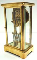 Fine Antique French Table Regulator with Visible Pendulum 8 Day 4 Glass Mantel Clock (7 of 10)