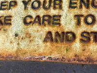 Large Heavy Rusted Cast Iron Railway Plaque Sign Train Notice (13 of 25)