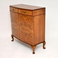 Antique Burr Walnut Two Door Cabinet (6 of 8)