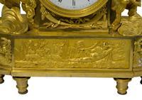 Fine French Empire Ormolu Mantel Clock (8 of 9)