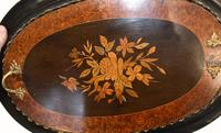 French Side Table Stand Marquetry Inlay c.1880 (2 of 13)