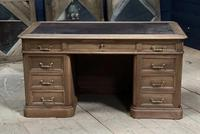 Quality 19th Century French Bleached Pedestal Desk (3 of 25)
