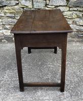 Antique Georgian Oak Side Table (7 of 14)