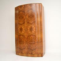 1930's Art Deco Figured Walnut Wardrobe (6 of 12)