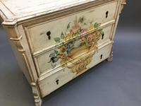 19th Century Painted Commode Chest of Drawers (5 of 12)
