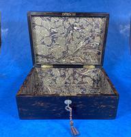 Victorian Coromandel Box with Mother of Pearl Escutcheons (3 of 14)