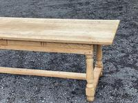 Large Bleached Oak Farmhouse Dining Table with Extensions & Storage (13 of 35)