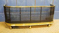 Regency Brass & Woven Wire Fire Fender