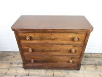Victorian Mahogany Chest of Three Drawers (5 of 14)