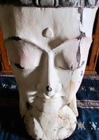 Large Asian Hand Carved Painted  Buddha Head (4 of 10)