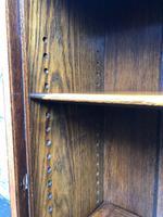 Antique Slim Glazed Oak Bookcase (2 of 11)