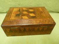 Large Tunbridge Ware Style Jewellery Box - Original Tray c.1870 (11 of 16)