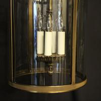 French Gilded Four Light Convex Hall Lantern (7 of 10)