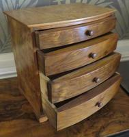 Burr Walnut Miniature Chest of Drawers 20th Century (2 of 6)