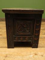 Continental Carved Oak Coffer, Blanket Box, Hall Storage Chest for shoes (11 of 13)
