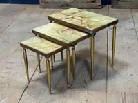 Nest 3 Onyx & Brass Tables (15 of 16)