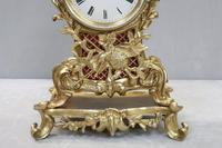 French Rococo Style Brass & Gilt Mantel Clock by Japy Freres (4 of 10)