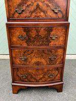 Antique Slim Burr Walnut Chest on Chest (3 of 8)