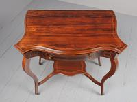Victorian Inlaid Rosewood Serpentine Card Table (6 of 14)