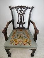 Carved Chippendale Revival Armchair (9 of 10)