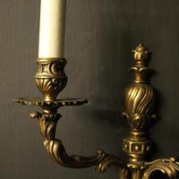 Twin Arm Antique Wall Lights (9 of 9)