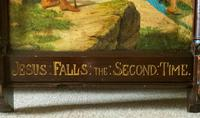 Lovely 19th Century Religious Old Master Christ & Cross Oil Painting - Set 14 Available (16 of 19)