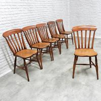 19th Century Matching Set of 6 Windsor Kitchen Chairs (2 of 6)