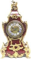 Wow! Phenomenal French Boulle Mantel Clock Red Shell floral Ormolu Mounts 8 Day Mantle Clock (10 of 10)