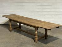 Nice Large Bleached Oak Farmhouse Dining Table With Extensions (35 of 35)