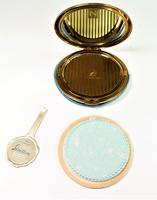 Rare Unused 1930s Hand Painted Enamel Stratton Powder Compact (4 of 8)
