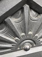 Antique Victorian Cast Iron Overmantle Mirror & Shelf (6 of 8)