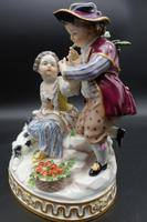 Fine Late 19th Century Meissen Model of Two Young Children & Dog (3 of 6)