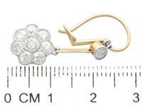 2.75ct Diamond, 15ct Yellow Gold & Platinum Drop Earrings - Antique c.1910 (6 of 12)