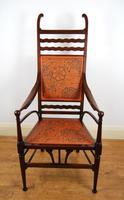 Edwardian Art Nouveau High Back Open Armchair (2 of 10)