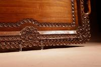 Two Colonial Very Fine Carved Wooden Trays (7 of 13)