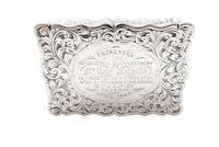 Antique Victorian Sterling Silver Snuff Box 1852 (2 of 11)