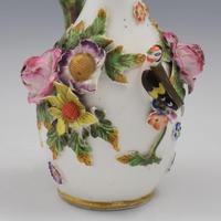 Spode Porcelain Bird & Flower Encrusted Scent / Perfume Bottle (9 of 13)