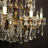 Italian 15 Light Gilded Bronze Antique Chandelier (3 of 10)