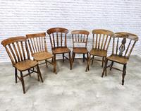 A Harlequin Set of 6 Kitchen Chairs (3 of 7)