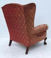Irish Chippendale Design 19th Century Mahogany Wing Back Armchair (4 of 9)