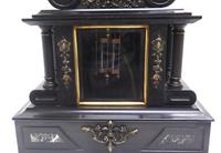 Fine Antique French Slate & Marble Regulator Mantel Clock 8 Day Striking Mantle Clock with Visible Jewelled Escapement (4 of 12)