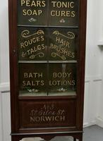 Edwardian Mahogany Sign Painted Perfumery Cupboard (2 of 7)