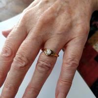 Mid 20th Century 18ct Gold Diamond Engagement Solitaire Ring Size O (11 of 11)