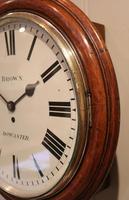 Large Oak Factory Wall Dial Clock (3 of 8)