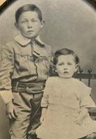 Enchanting Original Show-framed 19th Century Double Portrait Photograph of 2 Siblings (4 of 11)