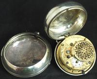 Antique Silver Pair Case Pocket Watch Fusee Verge Escapement Key Wind Enamel Dial W J Wolverhampton (4 of 11)