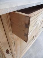 Great 2 Metre Antique Pine 4 Door Dresser Base / TV Stand to wax / paint (7 of 9)