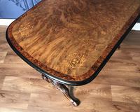 Victorian Burr Walnut & Amboyna Centre Table (14 of 14)
