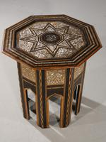 Early 20th Century Syrian Hardwood & Mother of Pearl Octagonal Table (4 of 5)