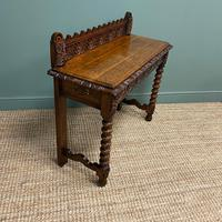 Stunning Carved Oak Victorian Antique Hall Table (8 of 8)